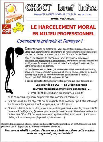 Harcélement moral